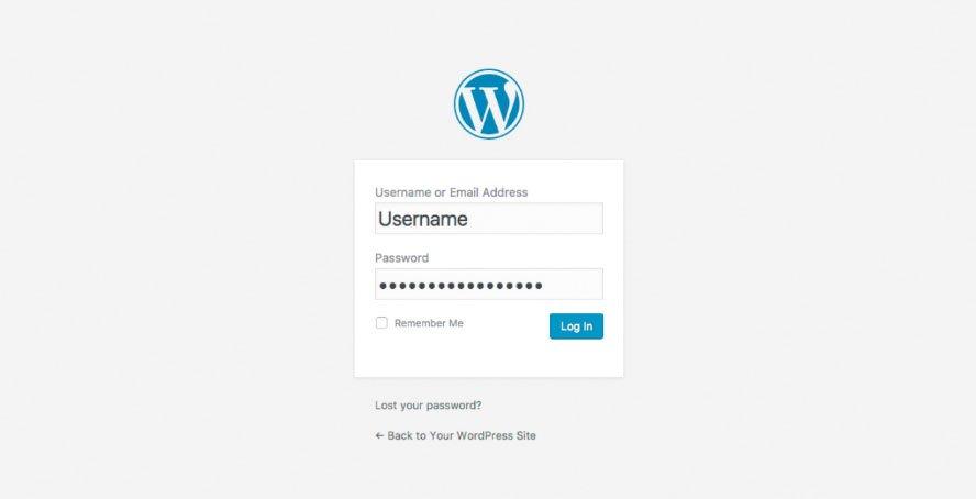 Accesso Pannello WordPress