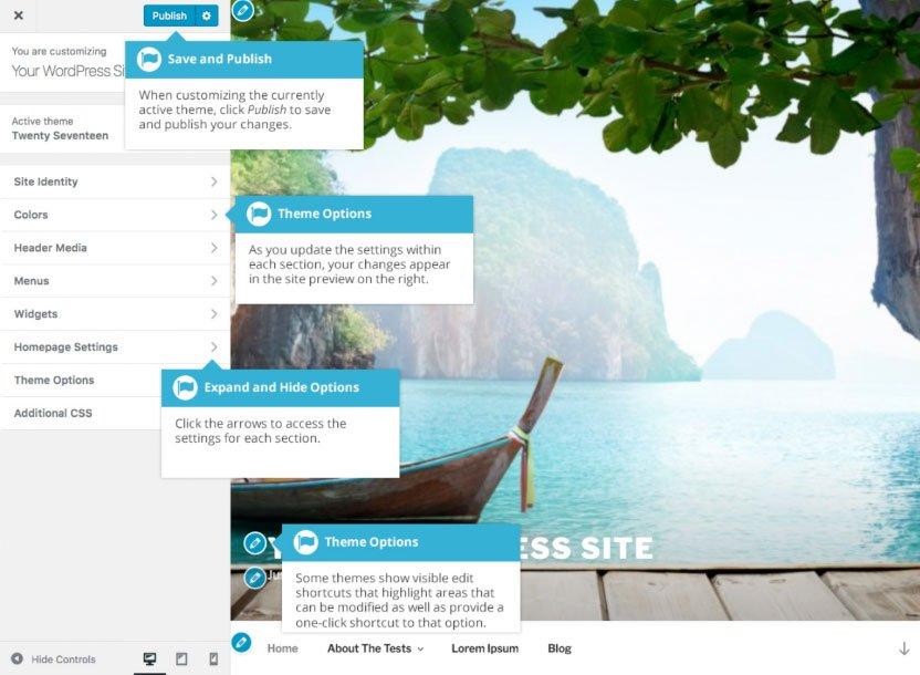 Aspetto WordPress : personalizzazione tema