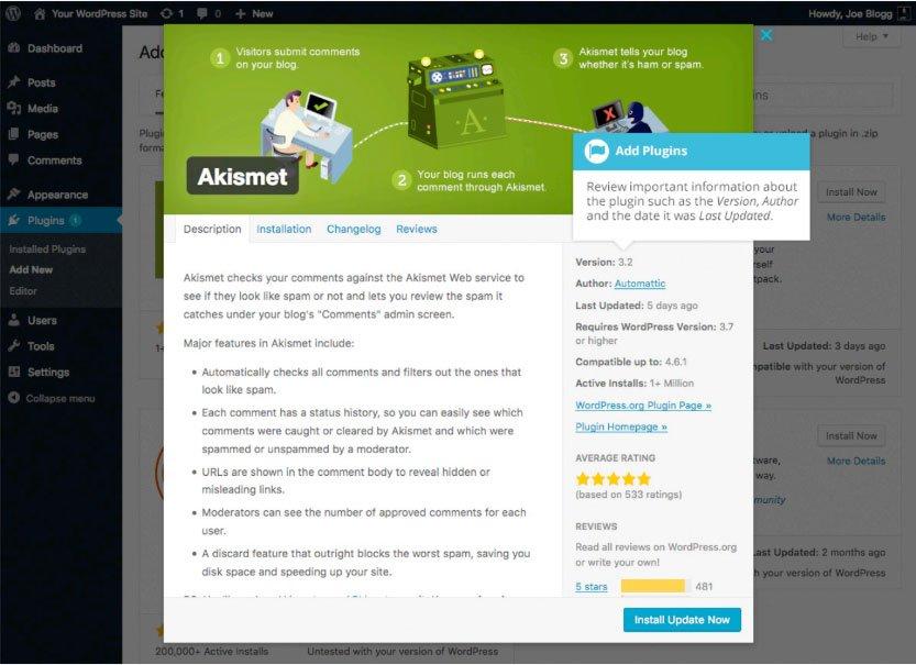 Plugin WordPress : installazione