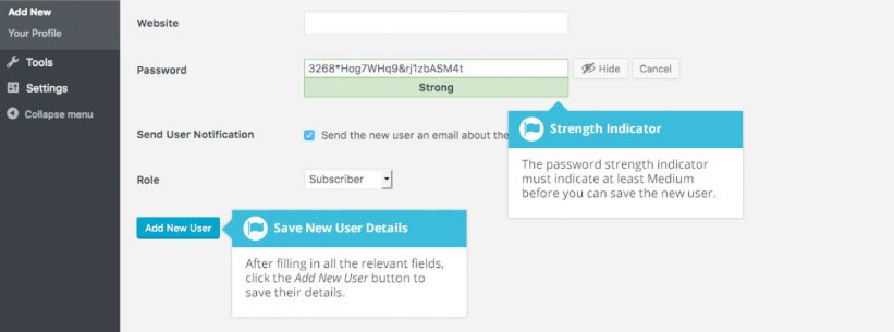 Utenti WordPress : impostare password utente