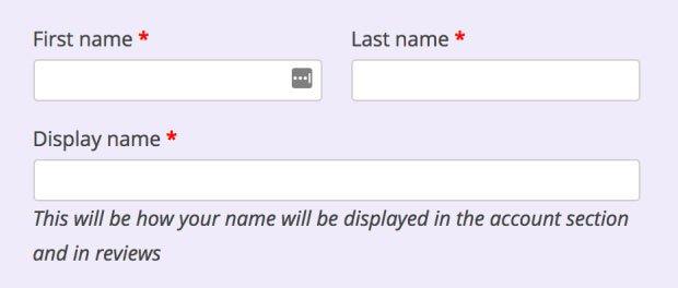 WooCommerce GDPR : display name