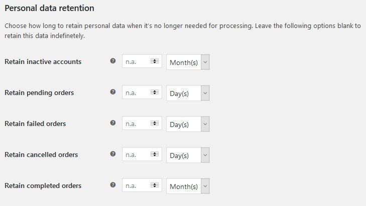 WooCommerce GDPR : rimozione dati personali