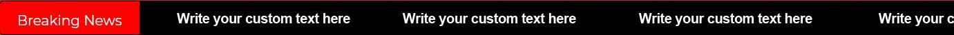 Breaking News Plugin - Custom Text Area