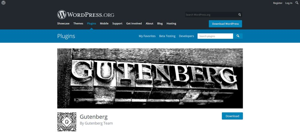 WordPress Gutenberg : plugin