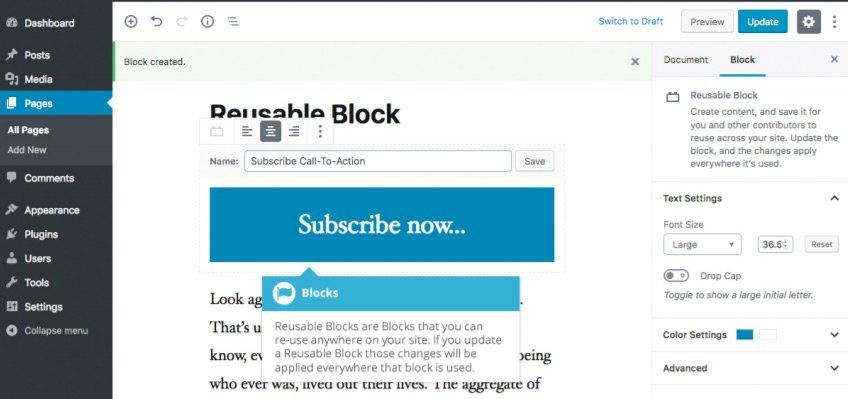 Incorpora Video con Gutenberg - Blocco Riutilizzabile